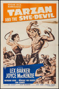 "Movie Posters:Adventure, Tarzan and the She-Devil & Other Lot (RKO, R-1957). One Sheets(2) (27"" X 41""). Adventure.. ... (Total: 2 Items)"