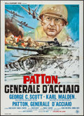 "Movie Posters:War, Patton (20th Century Fox, 1970). Italian 2 - Fogli (39.25"" X 55"").War.. ..."