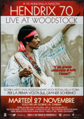 "Movie Posters:Rock and Roll, Hendrix 70: Live at Woodstock (Omniverse Vision, 2012). Italian 2 -Fogli (38"" X 55""). Rock and Roll.. ..."