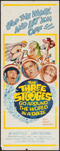 "Movie Posters:Comedy, The Three Stooges Go Around the World in a Daze (Columbia, 1963). Insert (14"" X 36""). Comedy.. ..."