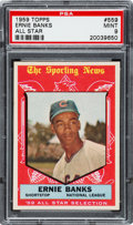 Baseball Cards:Singles (1950-1959), 1959 Topps Ernie Banks All Star #559 PSA Mint 9 - None Higher. ...