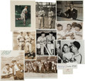 Baseball Collectibles:Photos, 1940's Mort Cooper Signed Photographs & Ephemera Lot of 12 from The Mort Cooper Collection....
