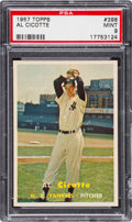 Baseball Cards:Singles (1950-1959), 1957 Topps Al Cicotte #398 PSA Mint 9 - Only One Higher. ...