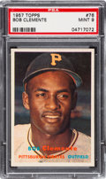 Baseball Cards:Singles (1950-1959), 1957 Topps Roberto Clemente #76 PSA Mint 9 - Only One Higher. ...