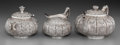 Silver Holloware, American:Tea Sets, A Fine Three-Piece Tiffany & Co. Silver Tea Service withIndo-Persian Motif, New York, New York, circa 1873-1891. Marks:T... (Total: 3 Items)