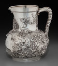 Silver Holloware, American:Pitchers, A Fine Tiffany & Co. Silver Pitcher with Griffin Motif, NewYork, New York, circa 1873-1891. Marks: TIFFANY & CO, 1511MAK...