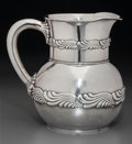 Silver Holloware, American:Pitchers, A Tiffany & Co. Silver Water Pitcher with Wave Motif, New York,New York, circa 1902-1907. Marks: TIFFANY & CO, 3077MAKER...