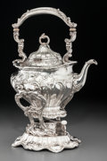 Silver & Vertu:Hollowware, A Gorham Silver Hot Water Kettle on Stand, Providence, Rhode Island, 20th century. Marks: GORHAM, (lion-anchor-G), STE... (Total: 2 Items)