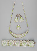 Silver Smalls:Other , A Five-Piece Margot de Taxco Enameled Silver Jewelry Suite, Taxco,Mexico, circa 1955-1978. Marks: MARGOT DE TAXCO, 5583, ...(Total: 5 Items)