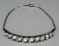Silver & Vertu:Smalls & Jewelry, An Antonio Pineda Silver and Moonstone Necklace, Taxco, Mexico, circa 1953. Marks: ANTONIO, TAXCO (within crown), 970,...