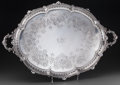 Silver Holloware, British:Holloware, A Large Hawksworth, Eyre & Co. Ltd. Edward VII Silver Tray,London, England, circa 1905. Marks: (lion passant), (leopard), ...
