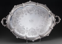 A Large Hawksworth, Eyre & Co. Ltd. Edward VII Silver Tray, London, England, circa 1905 Marks: (lion passant), (...