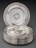 Silver Holloware, American:Plates, Twelve Baltimore Silversmith's Mfg. Co. Silver Bread and ButterPlates, Baltimore, Maryland, circa 1905. Marks: (B-eagle-S),...(Total: 12 Items)