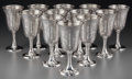 Silver Holloware, American:Cups, Twelve Baltimore Silversmith's Mfg. Co. Silver Goblets, Baltimore,Maryland, circa 1905. Marks: (B-eagle-S), STERLING, 925...(Total: 12 Items)