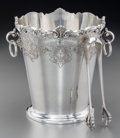 Silver Holloware, Continental:Holloware, A Portuguese Silver Ice Bucket and Tongs, Porto, Portugal, 20thcentury. Marks: (eagle- 833), (maker's mark). 7-1/2 inches h...(Total: 3 Items)