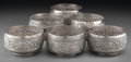 Silver Holloware, Continental:Holloware, Six Indian Silver Half Bath Bowls, 20th century. 2-1/2 inches highx 4-1/4 inches diameter (6.4 x 10.8 cm). 25.7 troy ounces...(Total: 6 Items)