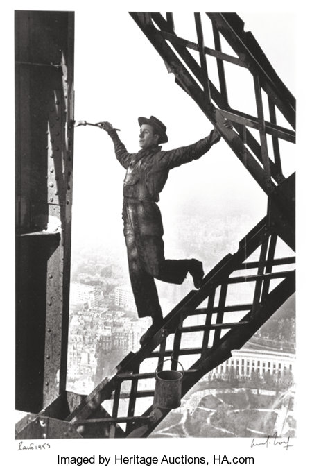 Marc Riboud (French, 1923-2016) The Painter of the Eiffel Tower, Paris, France, 1953 Gelatin silver, printed later 11...