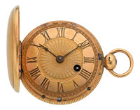 Tupman London 18k Gold Hunters Case Verge Fusee, circa 1840