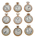 Timepieces:Pocket (post 1900), A Lot Of Nine Pocket Watches. ... (Total: 9 Items)