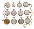 Timepieces:Pocket (post 1900), A Lot Of Twelve Pocket Watches. ... (Total: 12 Items)