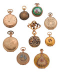 Timepieces:Pendant , Nine Ladies Watches, Six Gold & Three Gold Filled. ... (Total:9 Items)