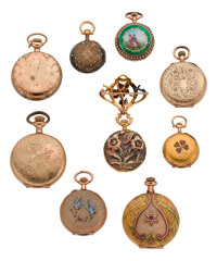 Nine Ladies Watches, Six Gold & Three Gold Filled