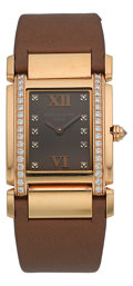 "Timepieces:Wristwatch, Patek Philippe Ref. 4920R Fine Lady's Rose Gold ""Twenty-4"" Diamond Wristwatch. ..."