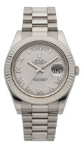 Timepieces:Wristwatch, Rolex Very Fine Ref. 218239 White Gold President Day Date II. ...