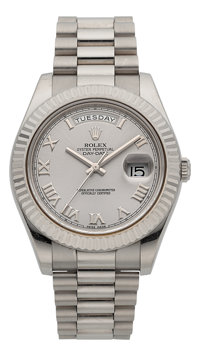 Rolex Very Fine Ref. 218239 White Gold President Day Date II