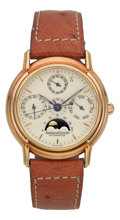 Timepieces:Wristwatch, Jaeger LeCoultre Ref. 170.7.80 Odysseus Perpetual Automatic YellowGold Wristwatch. ...