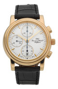 "Timepieces:Wristwatch, IWC 18k Yellow Gold ""Amalfi"" Automatic Chronograph Wristwatch. ..."