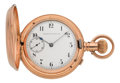 Timepieces:Pocket (pre 1900) , Waltham Rare 18k Gold Double Dial Chronograph, circa 1877. ...