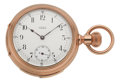 Timepieces:Pocket (pre 1900) , Waltham Fine Gold Five Minute Repeater, circa 1888. ...