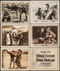 """Movie Posters:Western, Lawless Men & Others Lot (William Steiner, 1924). Lobby Cards(5) & Title Lobby Card (11"""" X 14""""). Western.. ... (Total: 6Items)"""