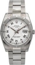 Timepieces:Wristwatch, Rolex New/Old Stock Ref. 115210 Steel Oyster Perpetual Date. ...