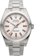 Timepieces:Wristwatch, Rolex Ref. 116400 Unused New/Old Stock Milgauss. ...
