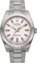 Timepieces:Wristwatch, Rolex Unused New/Old Stock Ref. 116400 Steel Milgauss. ...