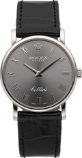 Timepieces:Wristwatch, Rolex Unused Ref. 5115/9 White Gold Cellini. ...
