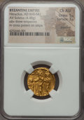 Ancients:Byzantine, Ancients: Heraclius (AD 610-641), with Heraclius Constantine andHeraclonas as Caesar. AV solidus (4.48 gm)....