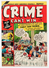 Crime Can't Win #43 (#3) (Marvel, 1951) Condition: VF