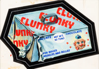 """Norman Saunders Wacky Packages 10th Series """"Clunky Candy"""" Card Illustration Original Art (Topps, 1974)"""