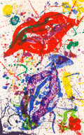 Prints:Contemporary, Sam Francis (1923-1994). Untitled (SF-329; L-L278), 1988.Lithograph in colors on wove paper. 45 x 28 inches (114.3 x 71...