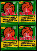 Basketball Cards:Unopened Packs/Display Boxes, 1987 Fleer Basketball Unopened Wax Pack Collection (4). ...