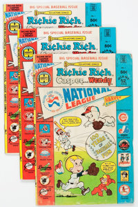Richie Rich, Casper and Wendy National League #1 File Copies Box Lot (Harvey, 1976) Condition: Average VF+