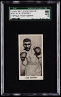 Boxing Cards:General, 1938 Cartledge Razor Jack Dempsey #26 SGC 98 Gem 10....