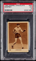 Boxing Cards:General, 1940 Kemmel Chocolate Jack Dempsey #49 PSA VG 3....