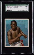 Boxing Cards:General, 1910 T218 Tolstoi Cigarettes Jack Johnson, Front View SGC 40 VG3....