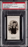 Boxing Cards:General, 1922 Collection Felix Potin 3rd Series Jack Dempsey PSA EX 5....