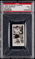 Boxing Cards:General, 1932 La Pie Qui Chante Jack Dempsey, Bio Back PSA NM+ 7.5 - Pop One, None Higher....