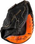 Baseball Collectibles:Others, 1980's Lance Parrish Game Used Catcher's Mitt. ...